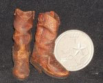 Boots Brown Old 1:12 Western Dollhouse Miniature Cowboy Cowgirl