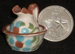Wash Basin & Pitcher Brown #TC406 Mexican Dollhouse Miniatutre