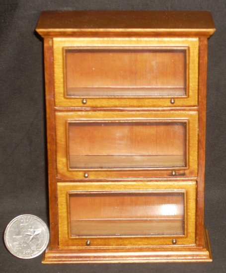 barrister cabinet library lawyer shelves 1 12 miniature j01039wn rh texastiny com barrister bookcase file cabinet barrister cabinets for sale