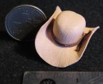 Cowboy / Cowgirl Hat Natural New 1:12 Miniature L504 - 2140