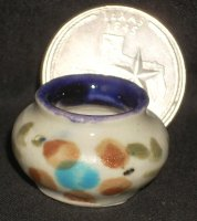 Folk Art Vase Mexican TC405-2C 1:12 Doll Miniature Flowers