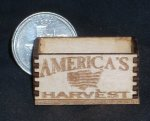 America's Harvest Produce Crate 1:12 Mini Grocery Farm Store