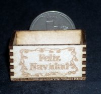 Feliz Navidad 1:12 Miniature Merry Christmas Candy Treats Crate