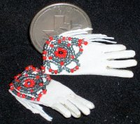 Beaded Western Gloves 2968 1:12 Native American Indian Miniature