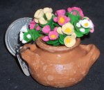Potted Cut Flowers Mixed 1:12 Miniature Flowers P-OS-F41x2 #5499