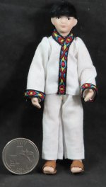 Doll - Boy Child Mexican Hispanic 1:12 Thomas #1745