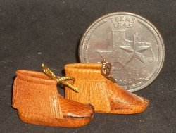 Moccasins Fringed Leather 1:12 Miniature Native American #2331
