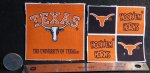 University of Texas UT Longhorn Fabric 1:12 Flags Quilt 8081