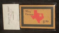 Welcome Mat Merry Christmas Texas Outline 1:12 Miniature Porch