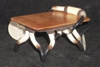 Cattle King End Table Rectangular LH199 1:12 Miniature Furniture