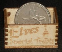 Elves Special Treats Crate Christmas 1:12 Miniature Santa