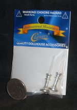 Candle / Candlestick 2 Silver 1:12 Miniature Light IM65585