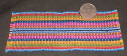 Backstrap Carpet / Rug / Blanket Blue 1:12 Miniature #9586