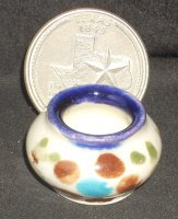 Folk Art Vase Mexican TC405-2F 1:12 Doll Miniature Flowers