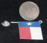 Texas Flag Wall Mount & Stand 1:12 Doll Miniature