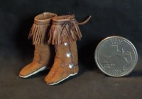Apache Boots Native American Indian 1:12 Miniature #4952