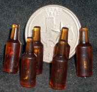 Blank Beer Bottle 1:12 Home Brewing Microbreweries Alcohol Bar