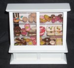 Bakery Display w/ Mexican Pan Dulce Pastries 1:12 Miniature 8909