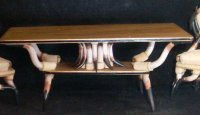 Cattle King Dining Table LH182 1:12 Miniature Furniture Western