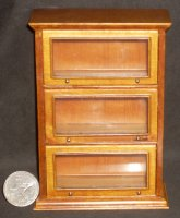 Barrister Cabinet Library Lawyer Shelves 1:12 Miniature J01039WN