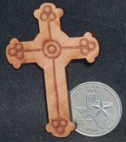 Cross - Wall Wood Large 001 #CWWL001 1:12 Miniature Religious