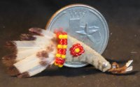 Bird Wing Ceremonial Fan #2601 1:12 Native American Miniature