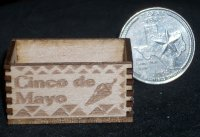 Cinco de Mayo Crate 1:12 Dollhouse Miniature Decoration Produce