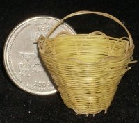 Basket Lacy One Yellow #BAS-LACE-Y 1:12 Miniature Mexican Import