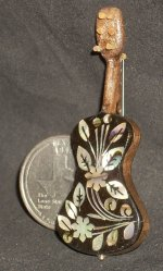 Guitar WI-1704 Inlaid Mother-of-Pearl #3627 Miniature Instrument