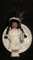 Doll - Doll's Doll Toy - Wee Indian #951 1:12 Miniature