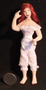 Doll - Woman Harlot Bordello Chicken Ranch 1:12 #2864 Thomas