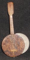 Banjo WI-1702 1:12 Miniature Musical Instrument Hand Carved