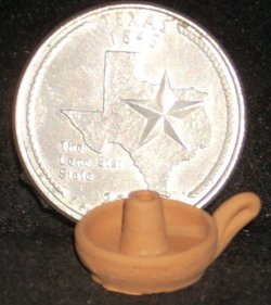Clay Candle Holder / Candlestick #C257 1:12 Miniature Mexican