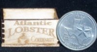 Atlantic Lobster Crate 1:12 Dollhouse Miniature Seafood Grocery