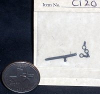 Bolt - Inside Sliding Bolt Door 1:12 Miniature #C120