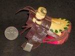 Riding Saddle Mexican Folk Art Horse 1:12 Miniature L502 #3567