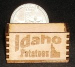 Idaho Potatoes Crate 1:12 Miniature Produce Market Store Farm