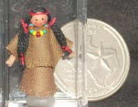 Doll - Doll's Doll Toy Native American Indian 1:12 1:24? #6028