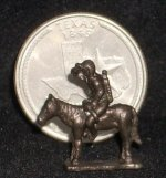 Indian Scout Statue Bronze #K58 1:12 Miniature Western Library