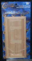 Door Standard 6 Panel Door #CLA76007 Doors 1:12 Miniature
