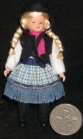Doll - Cowgirl #DHS01652 1:12 German CACO