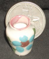 Folk Art Vase Mexican TC405-1D 1:12 Doll Miniature Flowers