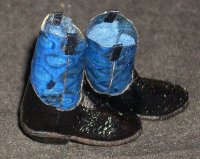 Boots Blue Snakeskin Ropers 5943 1:12 Western Miniature Cowboy