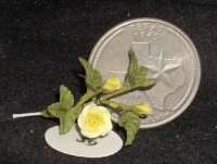 Yellow Rose of Texas #8195 1:12 Dollhouse Miniature Flower