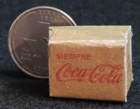 Coca-Cola Soda Coke Refresco Paper Box 1:12 Dollhouse Miniature