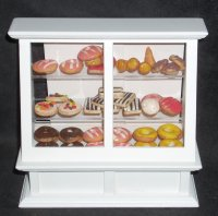 Bakery Display w/ Mexican Pan Dulce Pastries 1:12 Miniature 9446
