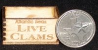 Atlantic Seas Live Clams Crate 1:12 Dollhouse Miniature Wooden