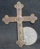 Cross - Wall Metal Large 001 #CWML001 1:12 Miniature Religious