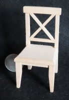 Chair Crossback Cross Back Unfinished 1:12 Miniature CLA10980