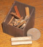 Wooden Box with Logs for Fireplace #WO1956 1:12 Miniature